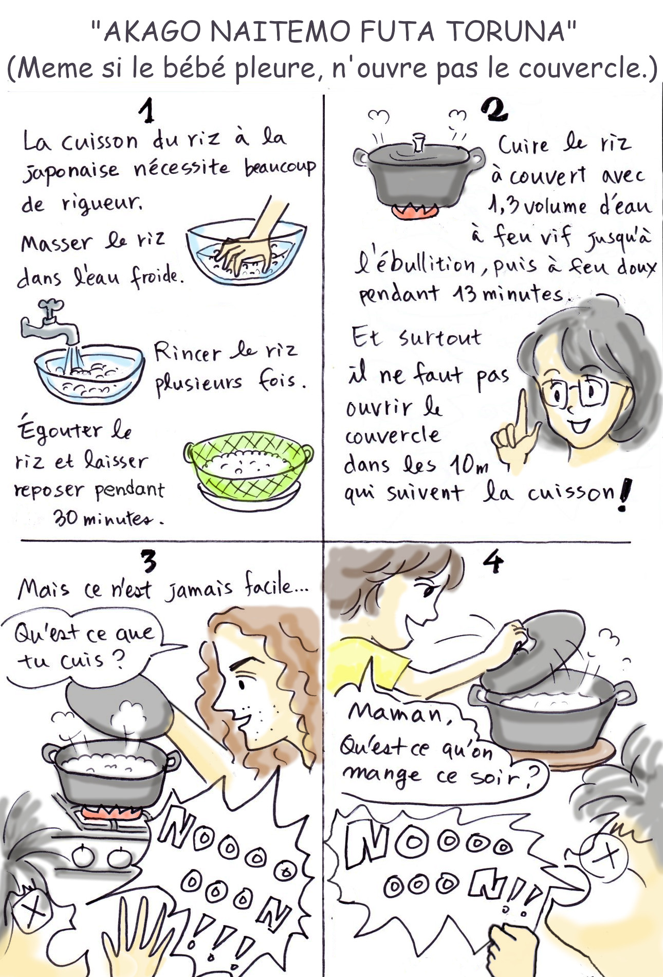 Recette de cuisine : la cuisson du riz à la japonaise